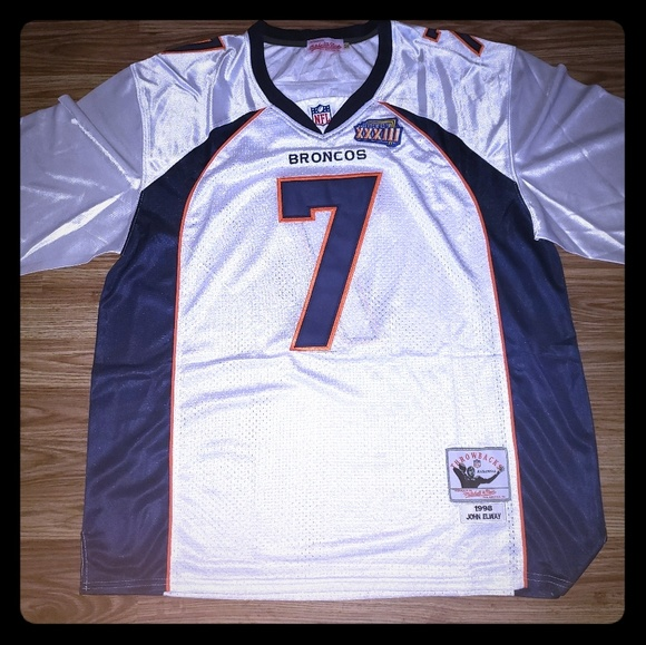 newest 408a8 77ba4 John Elway Super Bowl Jersey Mitchell and ness NWT